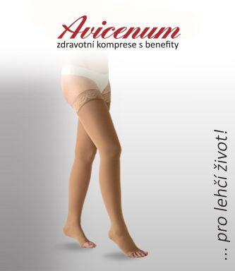 V produktové řadě zdravotních výrobků Avicenum nabízíme kvalitní podpůrné a  kompresivní podkolenky 0717390399
